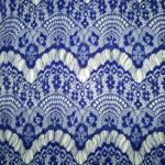 гипюр синий