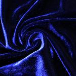 велюр темно синий
