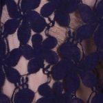 гипюр ромашки синий