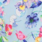 штапель цветы голубые