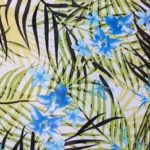 шифон цвет. зеленые пальмы